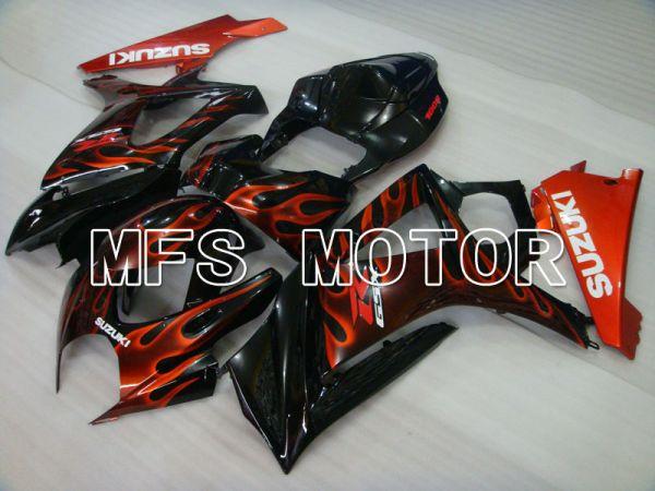 Suzuki GSXR1000 2007-2008 Injection ABS Fairing - Flame - Black Red - MFS2668