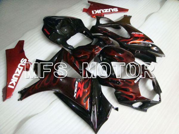 Suzuki GSXR1000 2007-2008 Injection ABS Fairing - Flame - Black Red - MFS2669