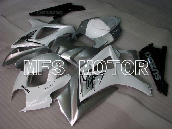 Suzuki GSXR1000 2007-2008 Injection ABS Fairing - Factory Style - White Silver - MFS2680