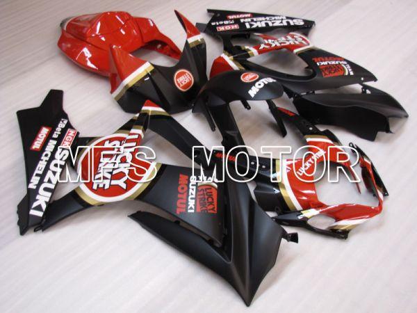 Suzuki GSXR1000 2007-2008 Injection ABS Fairing - Lucky Strike - Red Black - MFS2682