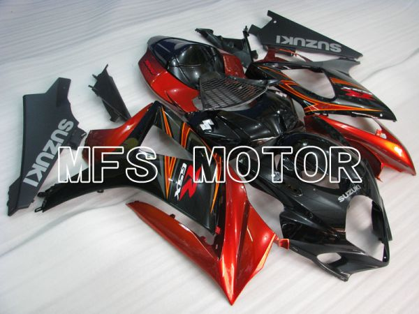 Suzuki GSXR1000 2007-2008 Injection ABS Fairing - Factory Style - Black Red - MFS2684