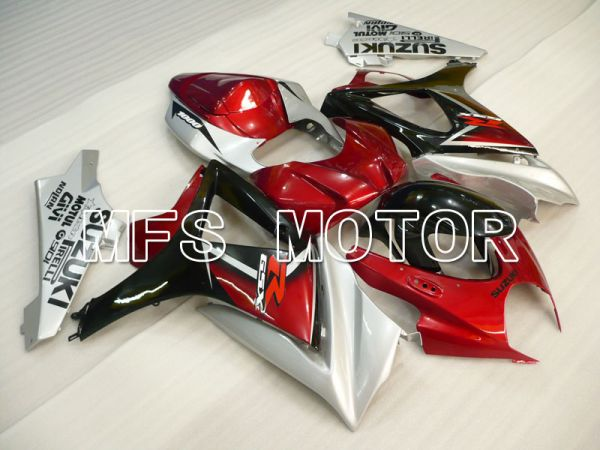 Suzuki GSXR1000 2007-2008 Injection ABS Fairing - Factory Style - Black Red - MFS2695