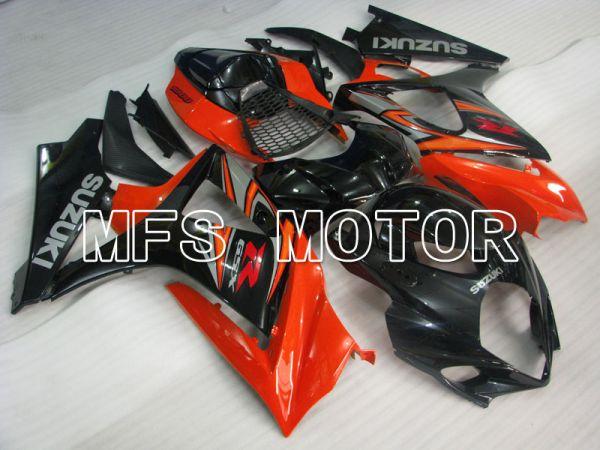 Suzuki GSXR1000 2007-2008 Injection ABS Fairing - Factory Style - Black Orange - MFS2697