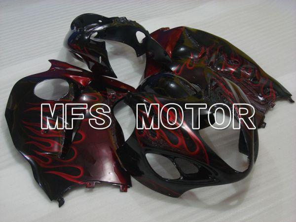 Suzuki GSXR1300 Hayabusa 1999-2007 Injection ABS Fairing - Flame - Black Red - MFS2771