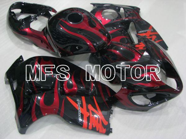 Suzuki GSXR1300 Hayabusa 1999-2007 Injection ABS Fairing - Flame - Black Red - MFS2807