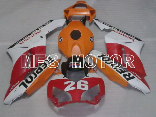 Honda CBR1000RR 2004-2005 Injection ABS Fairing - Repsol - Red Orange White - MFS2843