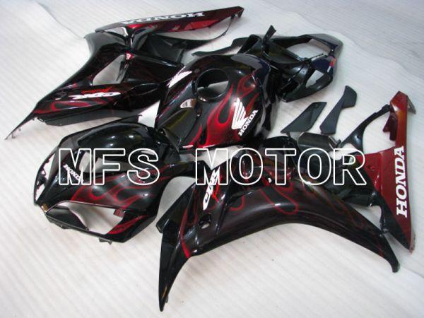 Honda CBR1000RR 2006-2007 Injection ABS Fairing - Flame - Black Red - MFS2881