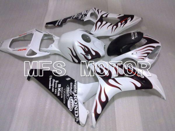 Honda CBR1000RR 2006-2007 Injection ABS Fairing - Flame - Black White - MFS2933