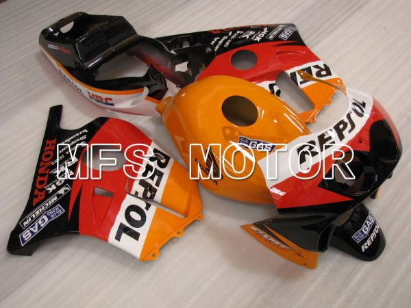 Honda CBR250RR 1990-1994 Injection ABS Fairing - Repsol - Black Orange Red - MFS3025