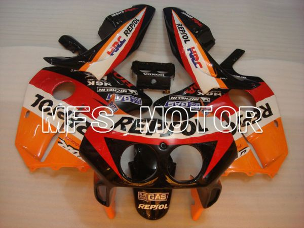 Honda CBR250RR 1990-1994 Injection ABS Fairing - Repsol - Black Orange Red - MFS3034