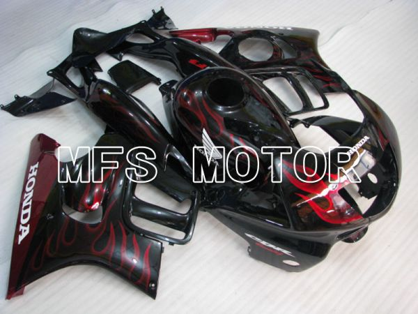 Honda CBR600 F3 1995-1996 Injection ABS Fairing - Flame - Black Red - MFS3042