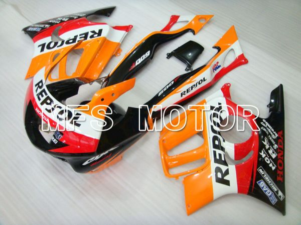 Honda CBR600 F3 1997-1998 Injection ABS Fairing - Repsol - Black Orange Red - MFS3072