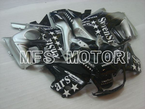 Honda CBR600 F3 1997-1998 Injection ABS Fairing - SevenStars - Black Silver - MFS3078