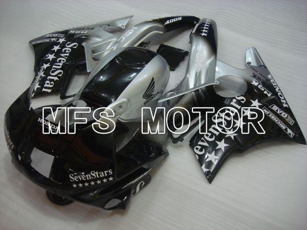 Honda CBR600 F2 1991-1994 ABS Fairing - SevenStars - Black Silver - MFS3100