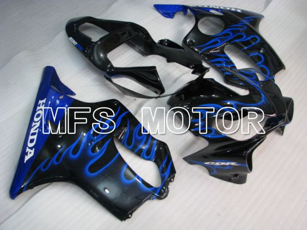 Honda CBR600 F4i 2001-2003 Injection ABS Fairing - Flame - Black Blue - MFS3145