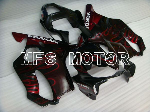 Honda CBR600 F4i 2001-2003 Injection ABS Fairing - Flame - Black Red - MFS3173