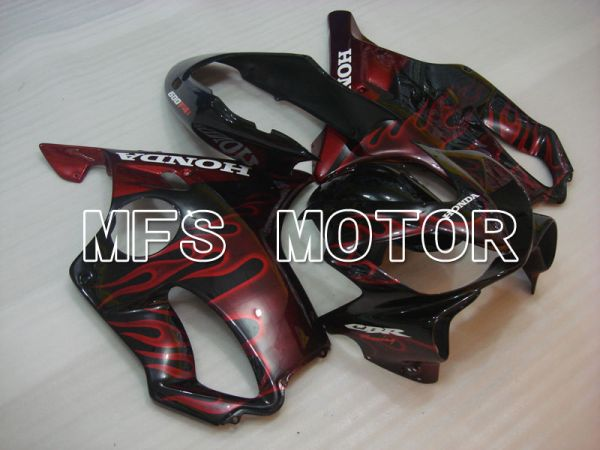 Honda CBR600 F4i 2004-2007 Injection ABS Fairing - Flame - Black Red - MFS3197