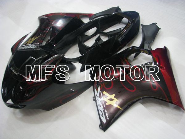 Honda CBR1100XX 1996-2007 Injection ABS Fairing - Flame - Black Red - MFS3245