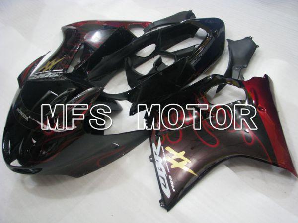 Honda CBR1100XX 1996-2007 Injection ABS Fairing - Flame - Black Red - MFS3245