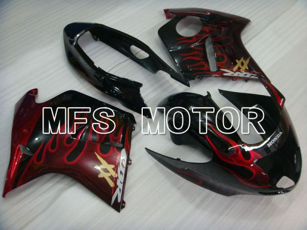 Honda CBR1100XX 1996-2007 Injection ABS Fairing - Flame - Black Red - MFS3247