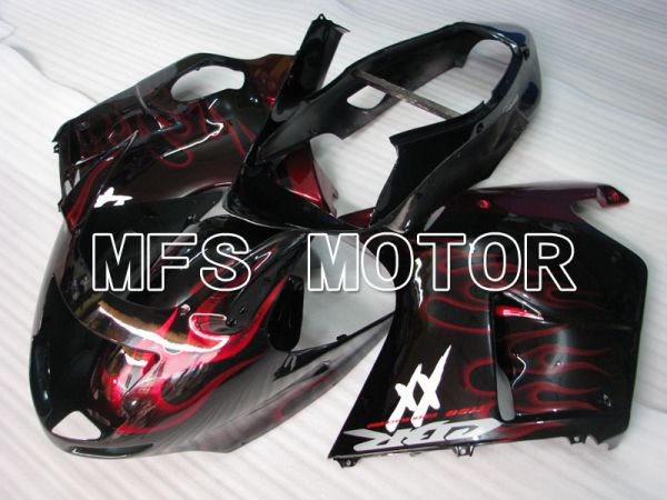 Honda CBR1100XX 1996-2007 Injection ABS Fairing - Flame - Black Red - MFS3249