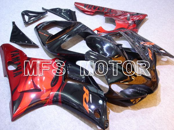 Yamaha YZF-R1 2000-2001 Injection ABS Fairing - Factory Style - Black Red - MFS3270