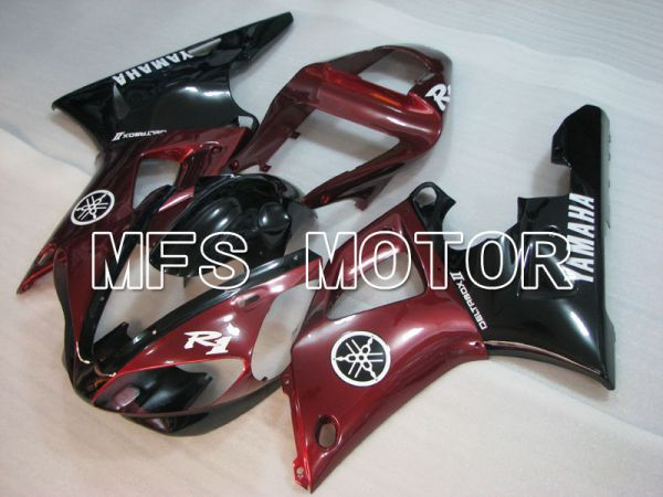 Yamaha YZF-R1 2000-2001 Injection ABS Fairing - Factory Style - Black Red - MFS3280