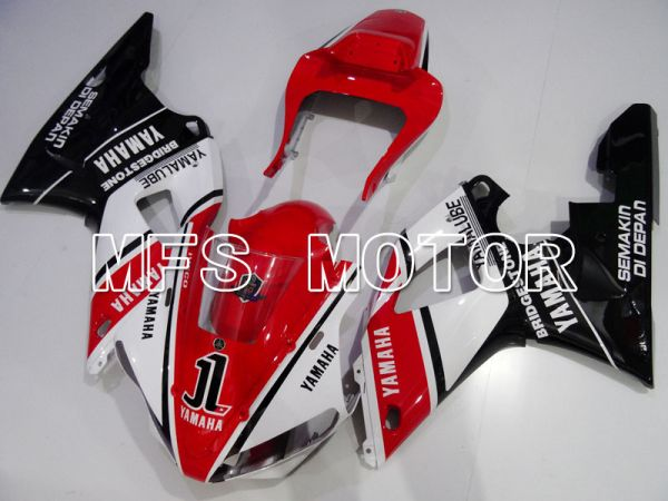 Yamaha YZF-R1 2000-2001 Injection ABS Fairing - Factory Style - Black Red White - MFS3281