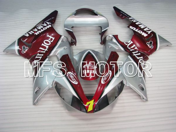 Yamaha YZF-R1 2000-2001 Injection ABS Fairing - Fortuna - Red Silver - MFS3283