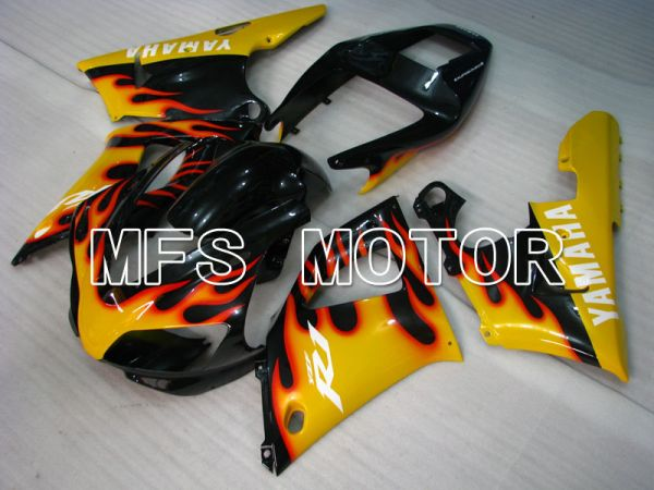 Yamaha YZF-R1 1998-1999 Injection ABS Fairing - Flame - Black Yellow - MFS3359