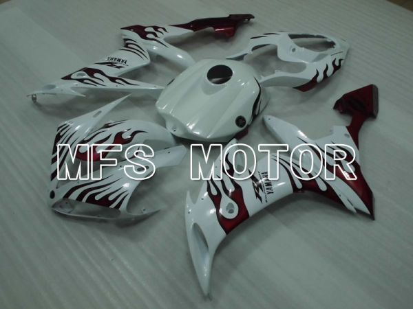 Yamaha YZF-R1 2004-2006 Injection ABS Fairing - Flame - Black Red - MFS5020