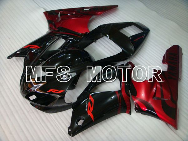 Yamaha YZF-R1 1998-1999 Injection ABS Fairing - Factory Style - Black Red - MFS3376