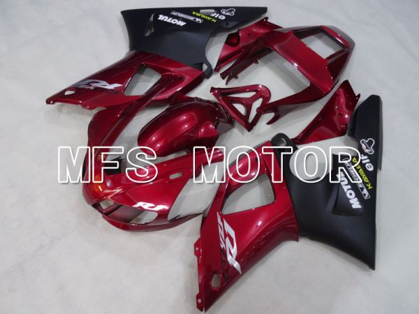 Yamaha YZF-R1 1998-1999 Injection ABS Fairing - Factory Style - Black Red wine color - MFS3394