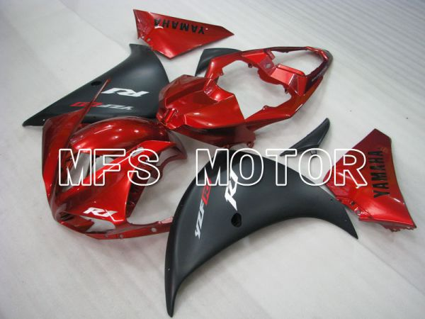 Yamaha YZF-R1 2009-2011 Injection ABS Fairing - Factory Style - Black Red wine color - MFS3396