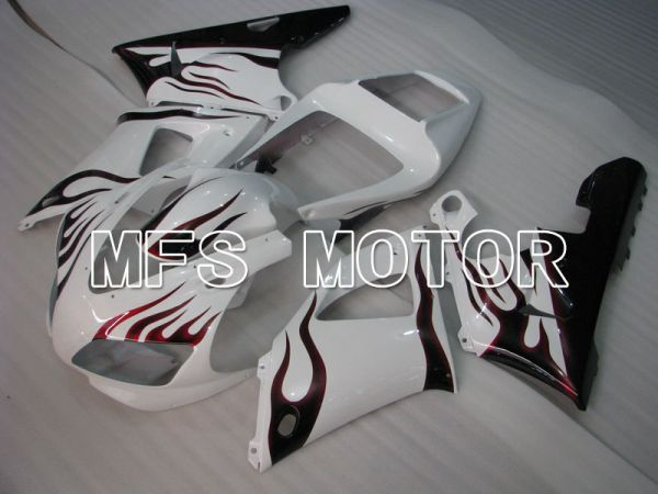 Yamaha YZF-R1 1998-1999 Injection ABS Fairing - Flame - Black White - MFS3403