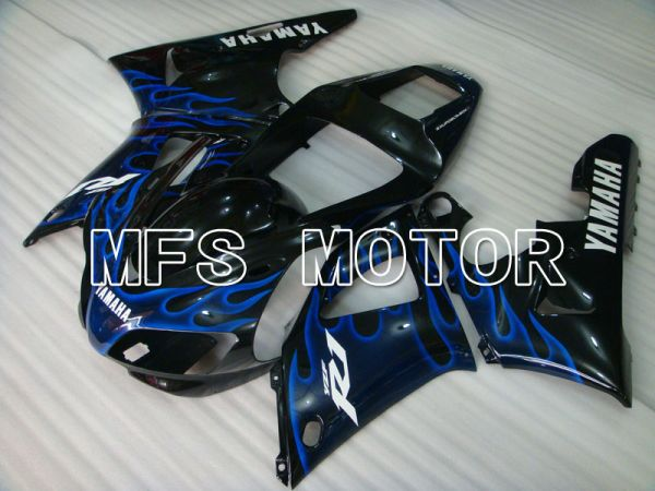 Yamaha YZF-R1 1998-1999 Injection ABS Fairing - Flame - Black Blue - MFS3412