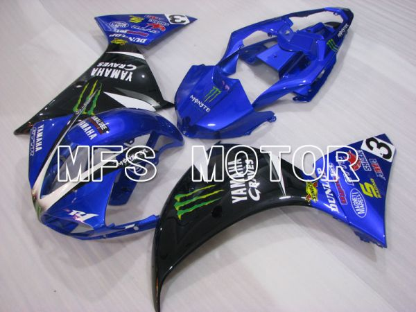 Yamaha YZF-R1 2009-2011 Injection ABS Fairing - Monster - Black Blue - MFS3414