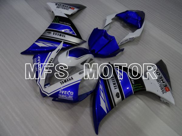 Yamaha YZF-R1 2009-2011 Injection ABS Fairing - Monster - White Blue - MFS3439
