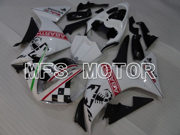 Yamaha YZF-R1 2009-2011 Injection ABS Fairing - ABARTH - Black White - MFS3447