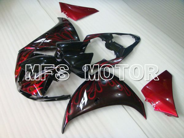 Yamaha YZF-R1 2009-2011 Injection ABS Fairing - Flame - Black Red wine color - MFS3450