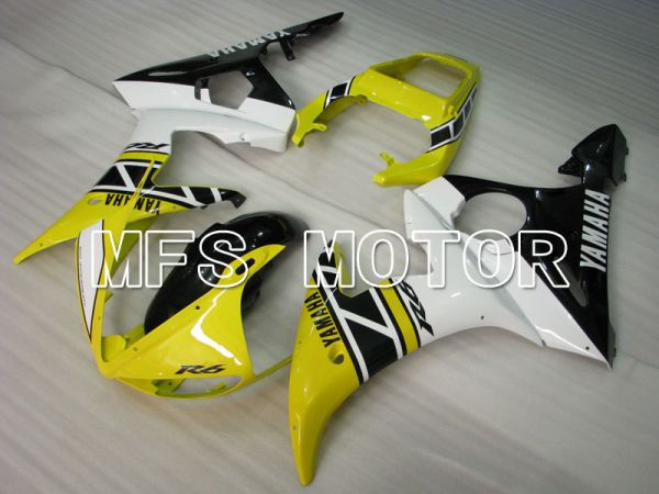 Yamaha YZF-R6 2003-2004 Injection ABS Fairing - Factory Style - Yellow White - MFS3499