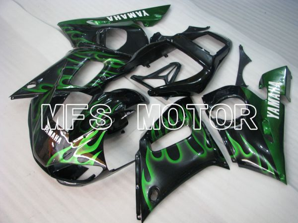 Yamaha YZF-R6 1998-2002 Injection ABS Fairing - Flame - Black Green - MFS3520