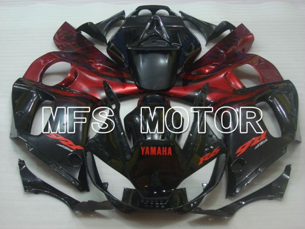 Yamaha YZF-R6 1998-2002 Injection ABS Fairing - Factory Style - Black Red wine color - MFS3557