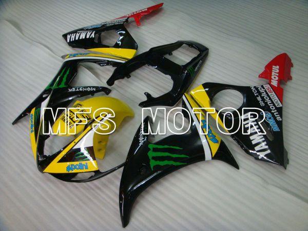 Yamaha YZF-R6 2003-2004 Injection ABS Fairing - Monster - Yellow Black - MFS3582