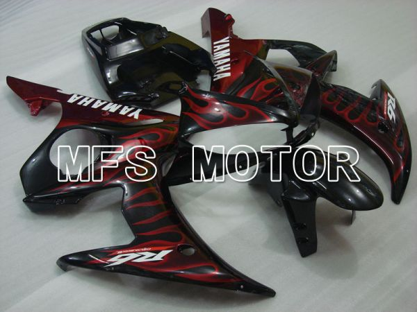 Yamaha YZF-R6 2005 Injection ABS Fairing - Flame - Black Red - MFS3591