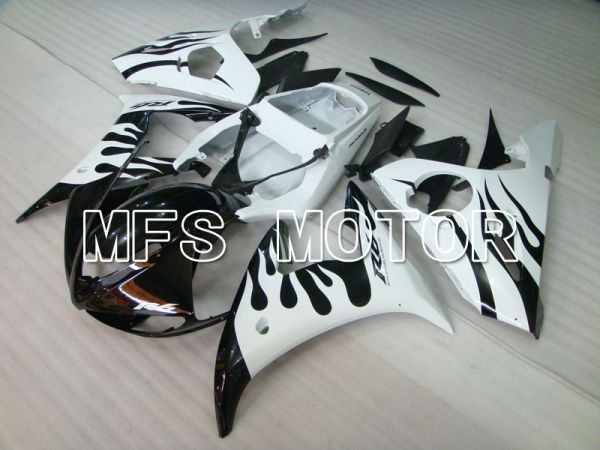 Yamaha YZF-R6 2005 Injection ABS Fairing - Flame - White Black - MFS3601