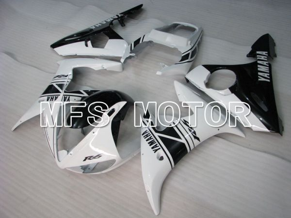 Yamaha YZF-R6 2003-2004 Injection ABS Fairing - Factory Style - White Black - MFS3602