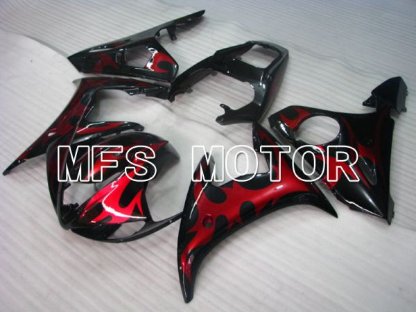Yamaha YZF-R6 2003-2004 Injection ABS Fairing - Flame - Red wine color Black - MFS3607