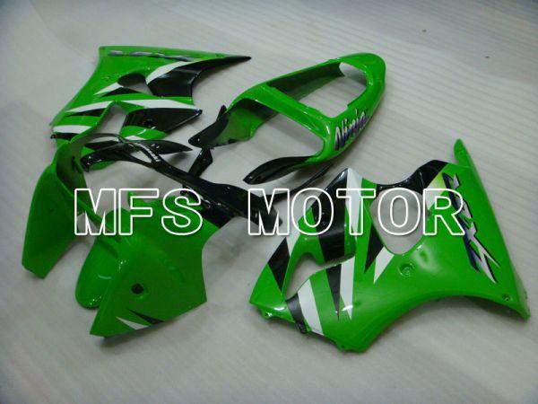 Kawasaki NINJA ZX6R 2000-2002 Injection ABS Fairing - Factory Style - Black Green - MFS3622