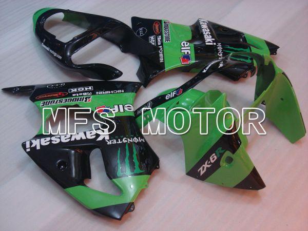 Kawasaki NINJA ZX6R 2000-2002 Injection ABS Fairing - Monster - Black Green - MFS3644